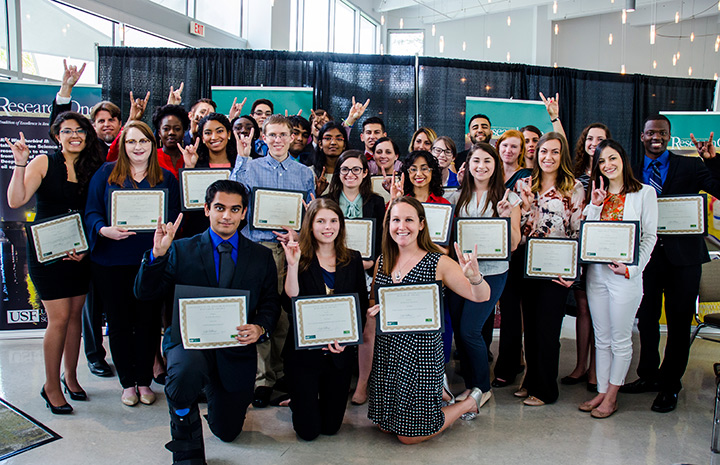 Undergraduate Research Awards recipients